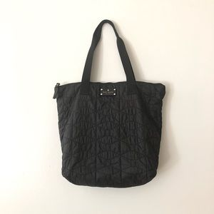 Kate Spade Wilson quilted tote purse black EUC
